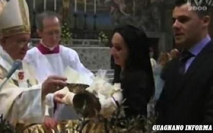 Battesimo eccezionale per una bimba dalle origini salentine