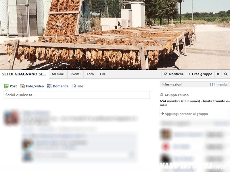 La pagina del gruppo su Facebook