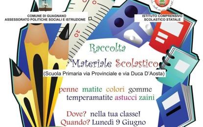 Il 9 giugno a Guagnano raccolta di materiale scolastico a favore degli alunni disagiati