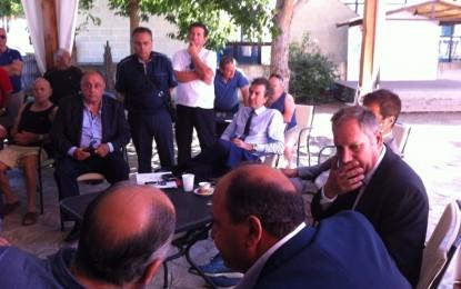 L'Assessore Nardoni incontra i sindaci e i contadini di Guagnano e Salice: «Faremo tutto il possibile perché venga proclamato lo stato di calamità»