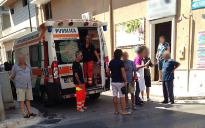 Investito da un motociclista, anziano guagnanese finisce in ospedale