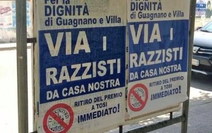 «Via i razzisti da casa nostra». Il Comitato Negroamore rivendica i manifesti spuntati per le vie di Guagnano
