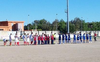 Football Guagnano, conquistata la vetta: Minervino battuto dai baby fenomeni rossazzurri