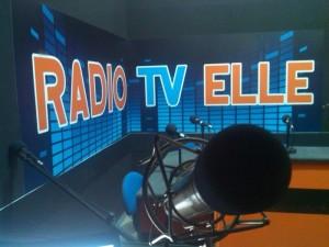 Particolare dello studio di RadioTv Elle