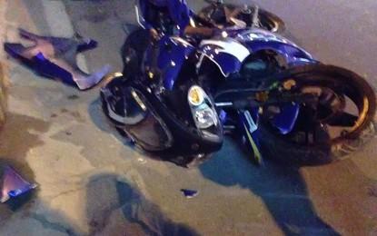 Impatto tra un'auto e una moto su via Provinciale nella serata di ieri: lievi contusioni per il motociclista