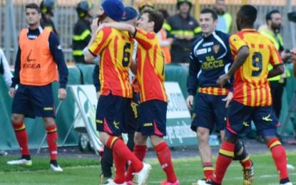 Un Lecce eroico gela il Benevento: Papini dedica il gol a Moscardelli