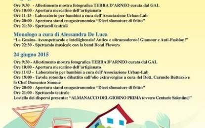 """Il 23 e 24 giugno a Veglie """"10 sfumature di fritto"""", percorso enogastronomico organizzato dall'Associazione """"Terra Arsa"""""""