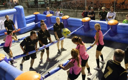 Bubble football e calcio balilla umano per due weekend all'insegna del divertimento