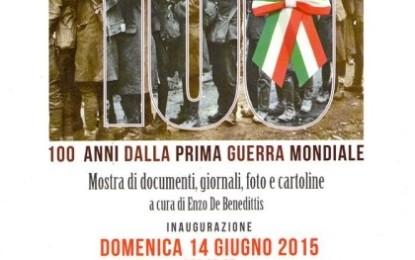 Il 14 giugno a Veglie l'inaugurazione della mostra a cura di Enzo De Benedittis in occasione del centenario della Grande Guerra