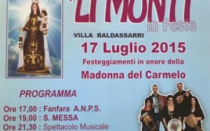 "Venerdì sera a Villa Baldassarri ""Li Monti in Festa"""