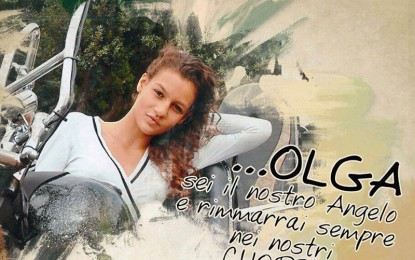 Una biciclettata per ricordare Olga. Si parte da piazza Maria SS. del Rosario alle 18.30 Il ritrovo sarà alle ore 18 nel cuore nel centro storico di Guagnano.
