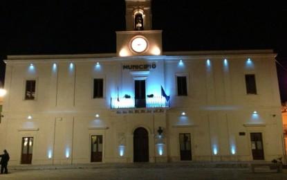 Domani il Palazzo Comunale di Guagnano si illuminerà di blu per l'autismo
