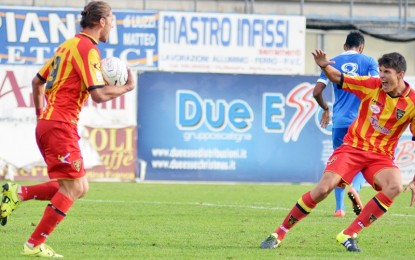 US Lecce, i salentini in dieci agguantano il pareggio allo scadere con Vencsei. A Martina Franca finisce 1 a 1