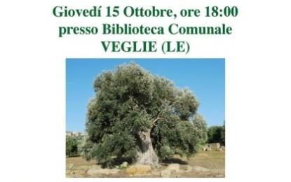 """""""Xylella: difendiamo i nostri ulivi!"""". Il 15 ottobre un incontro organizzato dal gruppo """"Il Grido degli Ulivi"""", in collaborazione con il Comune di Veglie"""