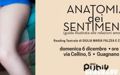 """""""Anatomia dei sentimenti"""", domenica sera al Rubik va in scena un reading teatrale"""