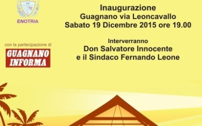 Stasera in via Leoncavallo si inaugura il Presepe Artistico di Guagnano