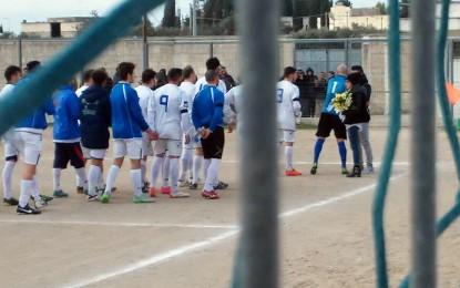 Veglie, durante l'incontro di calcio un commovente pensiero per Almarita