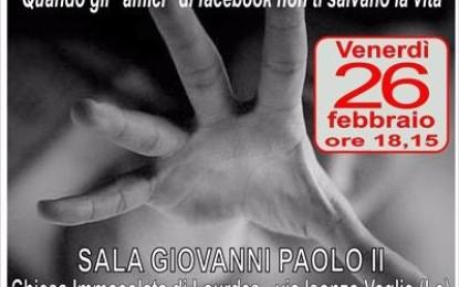 """""""Il disagio giovanile nel tempo dei social"""", venerdì 26 febbraio a Veglie una conferenza/dibattito sulle problematiche dei giovani"""