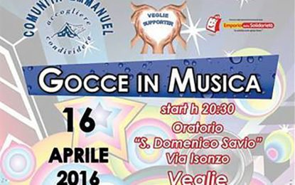 """""""Gocce in Musica"""", sabato a Veglie appuntamento con la solidarietà"""
