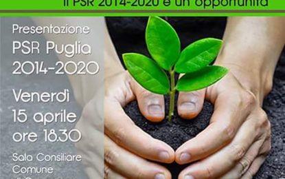 Stasera nella Sala Consiliare di Guagnano si presenta il PSR 2014-2020