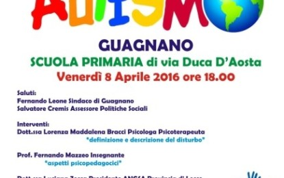 Venerdì nella scuola di via Duca d'Aosta di Guagnano un incontro formativo sull'autismo