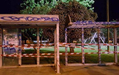 Fermate STP vegliesi chiuse con i nastri, la protesta del Blocco Studentesco Veglie contro i disservizi dei trasporti pubblici