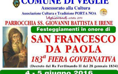 """A Veglie torna la """"fera"""", sabato e domenica i festeggiamenti in onore di San Francesco da Paola"""