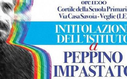 Il 15 maggio a Veglie si intitola l'Istituto Comprensivo Statale a Peppino Impastato
