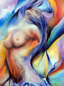 """""""Sensualità"""", l'olio su tela di Angelo Monte"""