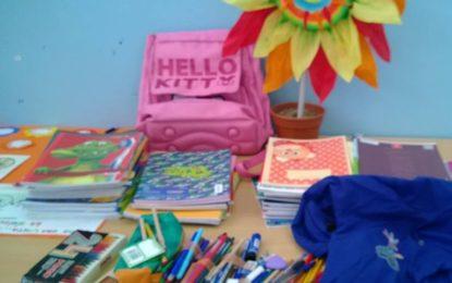 Nelle scuole guagnanesi di via Provinciale e via Duca d'Aosta la raccolta del materiale scolastico