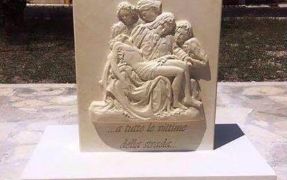 Stasera a Guagnano si inaugura il monumento alle vittime della strada. Poi una biciclettata in ricordo di Olga
