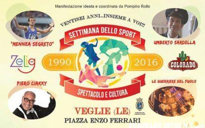 Settimana dello Sport, Cultura e Spettacolo a Veglie, proseguono gli appuntamenti della storica manifestazione