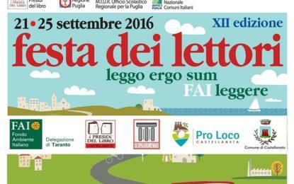 """""""Un caffè in ghiaccio con latte di mandorla"""": il 23 settembre a Castellaneta per la Festa dei Lettori"""