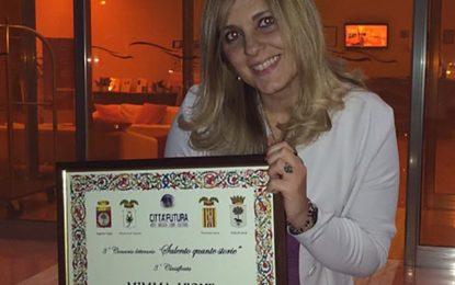 """Terzo posto per """"L'Angelo Imperfetto"""" della guagnanese Mimma Leone al concorso """"Salento Quante Storie"""""""