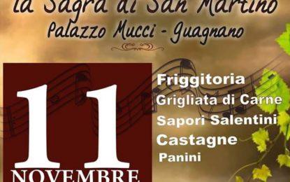 """Domani a Guagnano """"La Sagra di San Martino"""", appuntamento a Palazzo Mucci"""