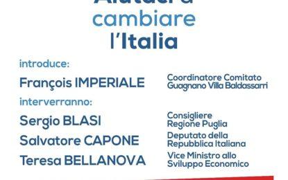 """""""Basta un Si. Aiutaci a cambiare l'Italia"""": domenica 20 novembre a Guagnano un incontro organizzato dal comitato """"Basta un Si"""""""