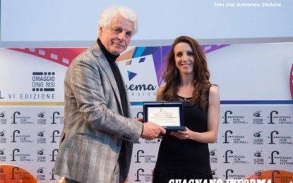 La guagnanese Maria Irene Vetrano premiata al Foggia Film Festival