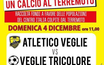 """""""Un calcio al terremoto"""", domenica 4 dicembre a Veglie un'altra iniziativa di Veglie Tricolore"""