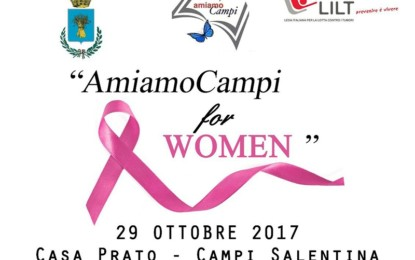 """""""AmiamoCampi for Women"""": visite senologiche gratuite domenica 29 ottobre a Campi Salentina"""