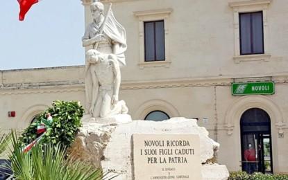 Domani mattina a Novoli si commemorano i Caduti di tutte le guerre: la cerimonia inizia alle 9.30