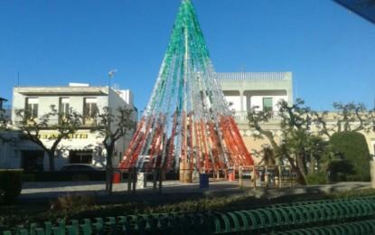 Il 4 dicembre l'albero di Natale ecologico di Largo delle Rimembranze darà il via alle manifestazioni natalizie di Veglie