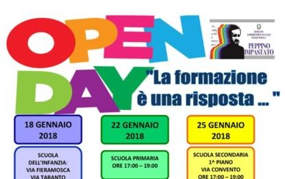 """L'8, il 22 e il 25 gennaio open day dell'Istituto Comprensivo """"Peppino Impastato"""" Polo 1 di Veglie"""