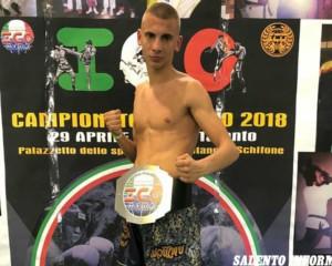 Un 17enne di Villa Baldassarri sul podio del Campionato Italiano di Muay Thai