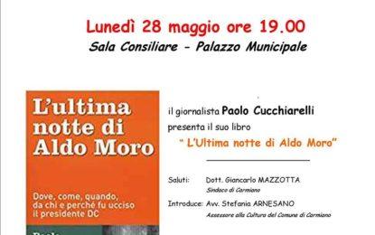 """Il 28 maggio a Carmiano si presenta """"L'ultima notte di Aldo Moro"""""""