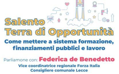 """Domani Federica De Benedetto sarà a Campi Salentina per presentare il progetto """"Salento Terra di opportunità"""""""