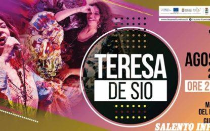 """""""Premio Terre del Negramaro"""", il Suono Illuminato procede il tour a Guagnano con il concerto di Teresa De Sio"""