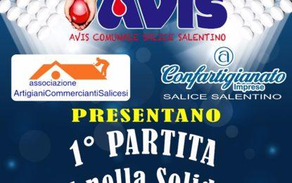 """Il 12 ottobre il campo sportivo """"Le Rene"""" di Salice Salentino ospita il match """"Uniti nella solidarietà"""""""