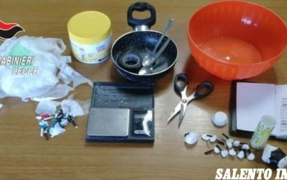 Cocaina e creatina in una sala slot di Leverano, in manette un 39enne del posto