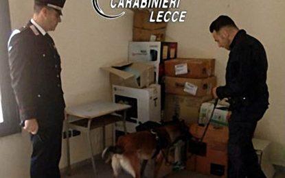 Controlli in una scuola di Campi Salentina, hashish e marijuana nascosti nei bagni