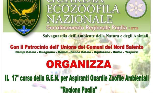 Al via le iscrizioni per partecipare al 17º Corso della G.E.N. per Aspiranti guardie zoofile